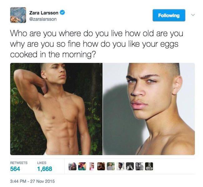 Зара Ларссон је твитала о врућој манекенки пре годину дана, а сада се забављају
