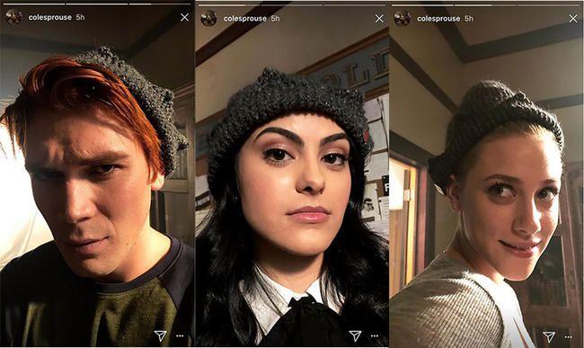 Die Riverdale-Besetzung hat Jugheads ikonische Mütze anprobiert und es war ein Moment