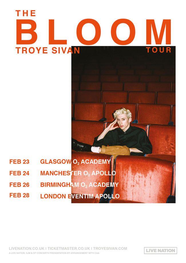 Troye Sivan, Bloom İngiltərə və Avropa Tur Tarixlərini Açıqladı