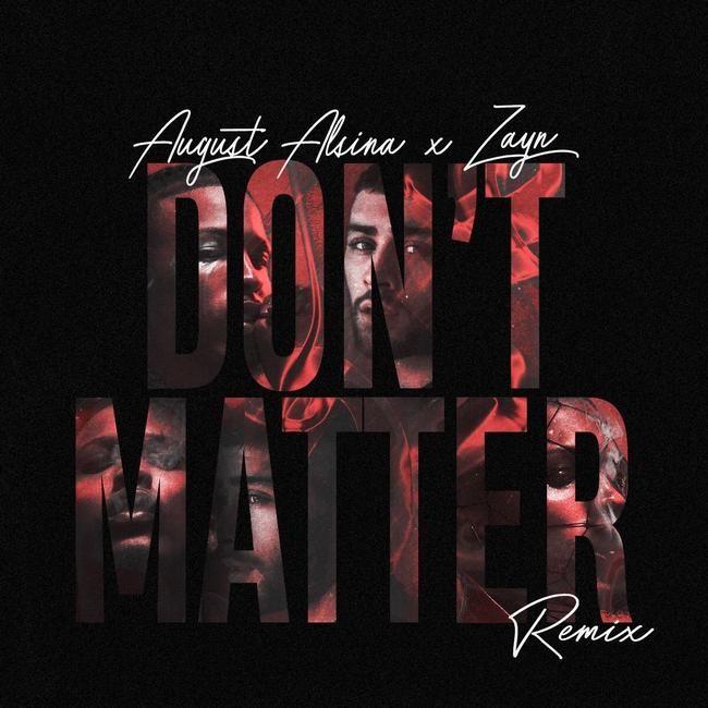 ZAYN Rush slipper Remix 'Don't Matter' med August Alsina etter lekkasje