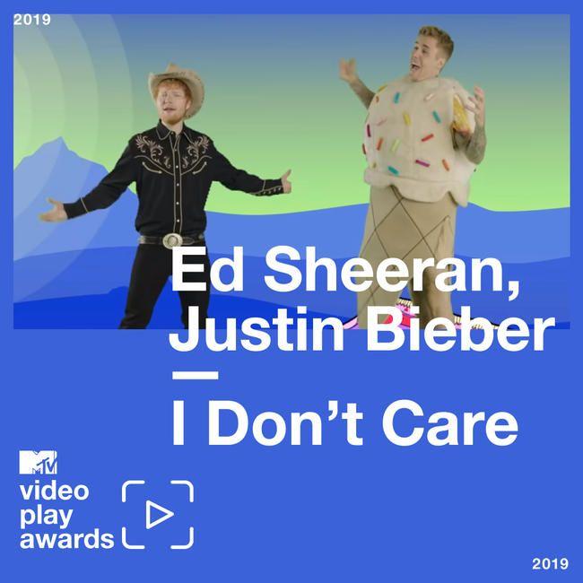 Ed Sheeran og Justin Biebers 'I Don't Care' var MTVs mest spilte video av 2019