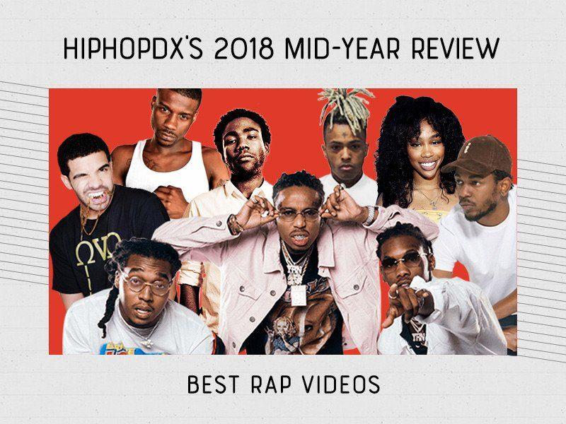 Les 10 meilleures vidéos rap de 2018 (jusqu'à présent)