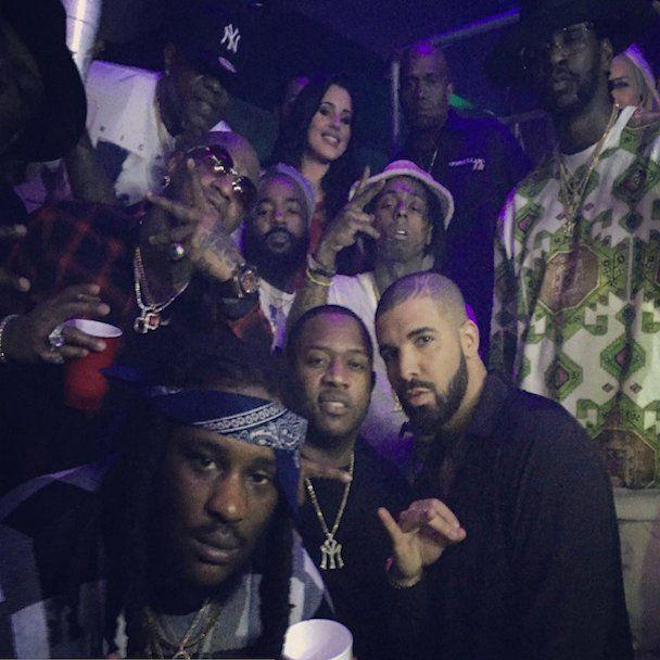 """""""Instagram Flexin '"""": Lil Wayne, """"Birdman & Drake"""" kartu su Naujųjų metų išvakarėmis"""