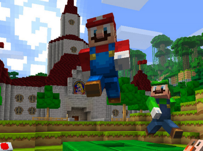 Nintendo Switch -də Minecraft -ın Yeni Mario Dünyasını Görməlisiniz