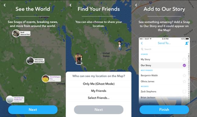 """Štai kaip naudotis įdomia """"Snapchat"""" nauja """"Snap"""" žemėlapio funkcija"""