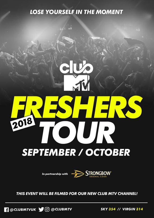 Club MTVs Freshers Tour kommer tilbake for 2018!