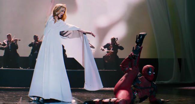"""Deadpool zieht High Heels für Céline Dions """"Ashes""""-Musikvideo an"""