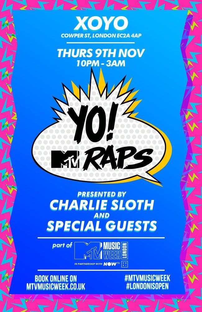 Charlie Sloth moderiert The Return of Yo! MTV Raps für die MTV Music Week