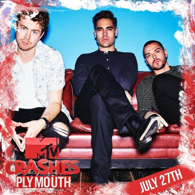 Busted ble nettopp lagt til MTV Crashes Plymouth Line Up!