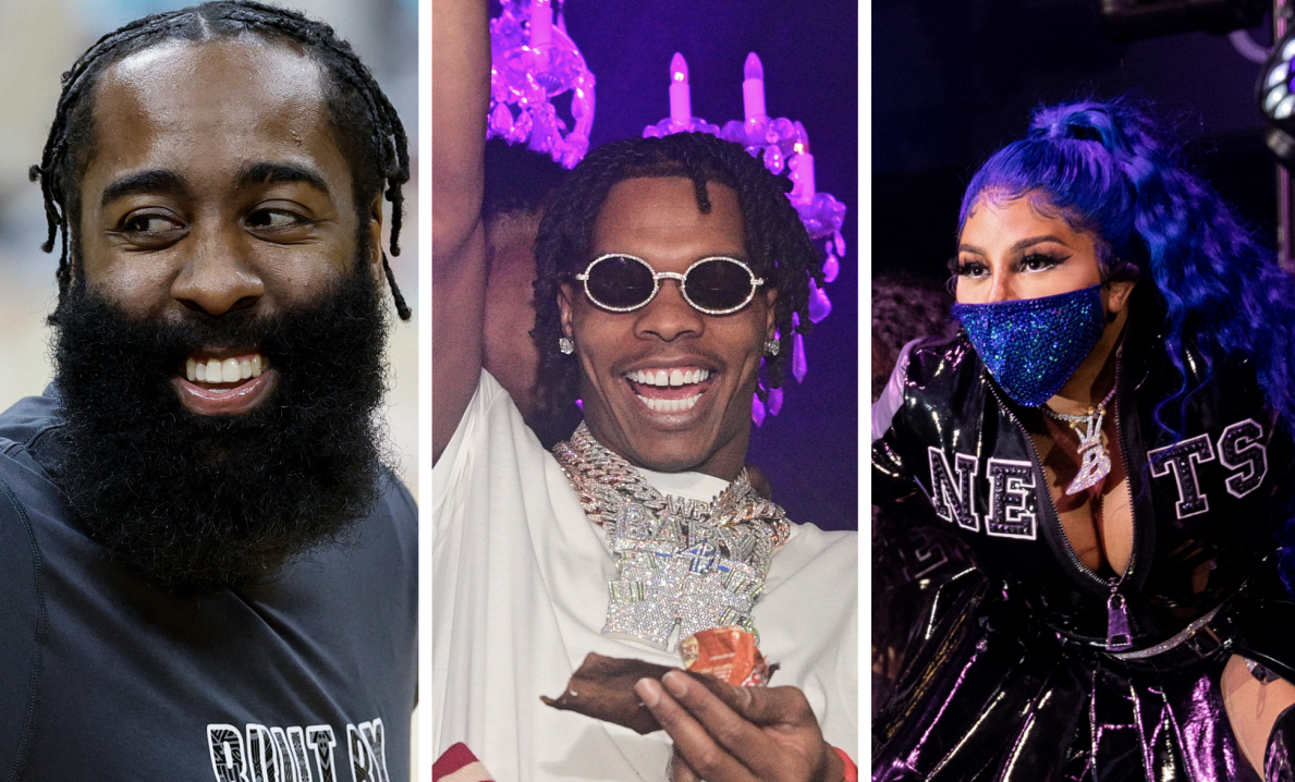 Lil Baby & 42 Dugg Link With James Harden Etter Lil Kims Brooklyn Nets Performance