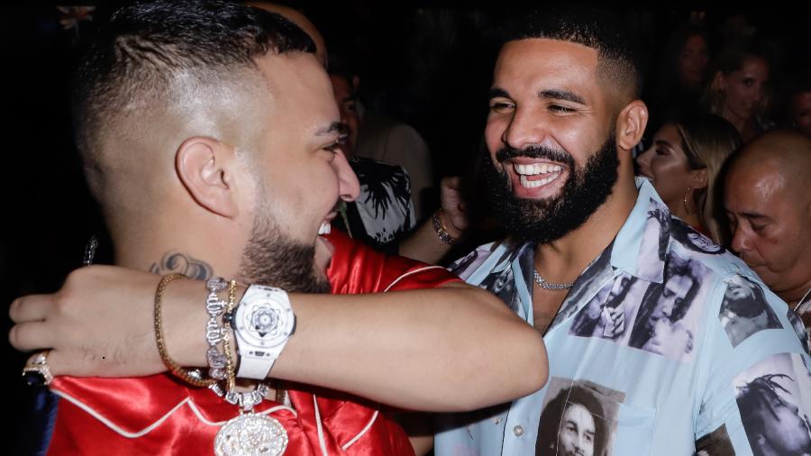 Drake ist wieder auf den Beinen und macht Urlaub in Turks- und Caicosinseln mit Französisch Montana