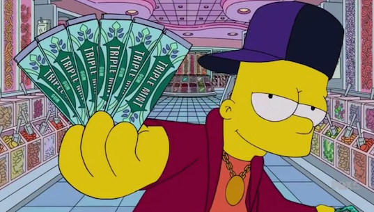 Bart Simpson Remakes Drakes 'Started From The Bottom' video
