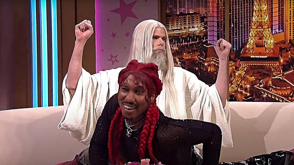 Lil Nas X erzählt der SNL-Besetzung, dass sie 'zur Hölle fahren', weil sie sich über sein umstrittenes 'Montero' -Video lustig gemacht haben