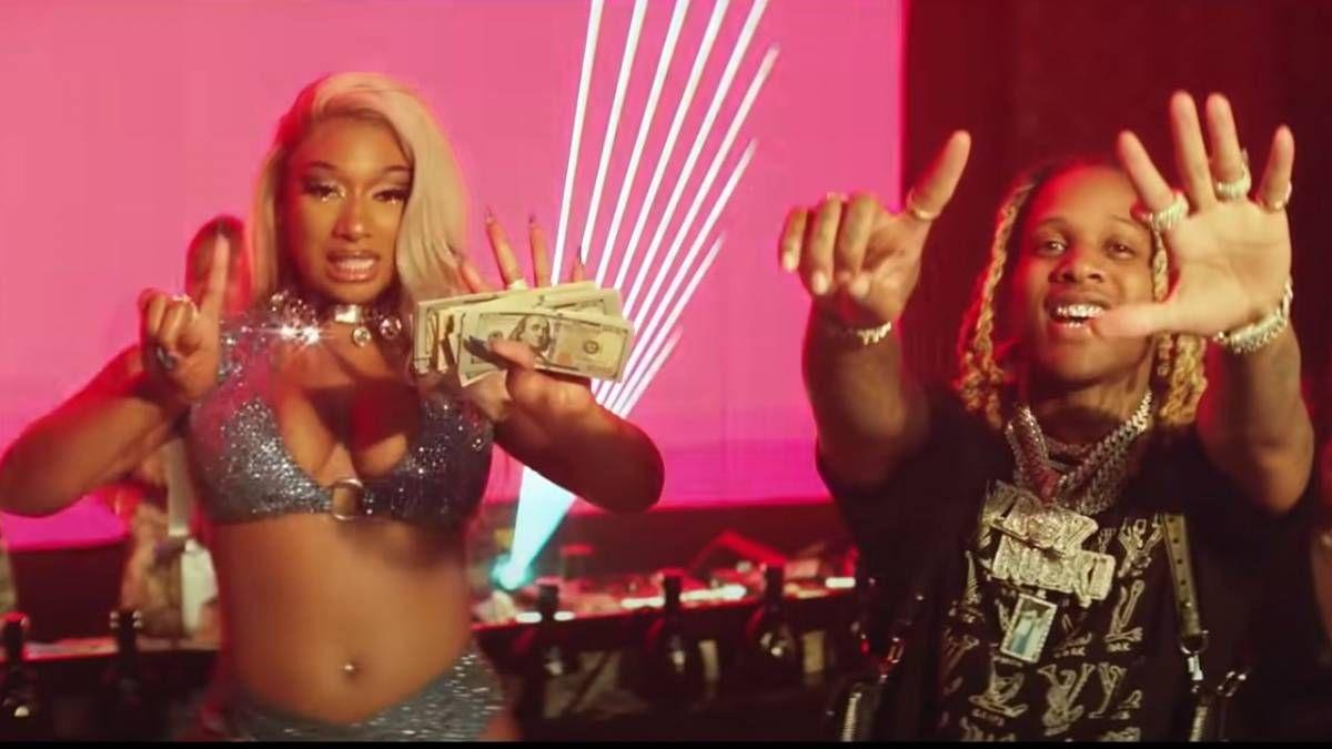 Megan Thee Stallion et Lil Durk Make It Typhoon dans une vidéo de film sur le thème des clubs de strip-tease