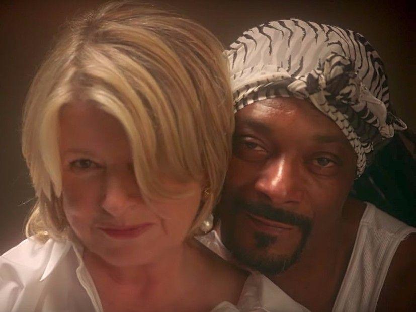 Snoop Dogg & Martha Stewart erstellen eine sinnliche 'Ghost' -Szene
