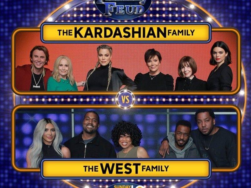 Beobachten Sie Kanye West & Kim Kardashian beim Spielen von 'Family Feud