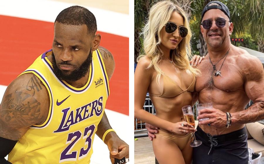 Drake & 2 Chainz kommen nach der Auseinandersetzung mit 'Courtside Karen' zu LeBron James 'Verteidigung