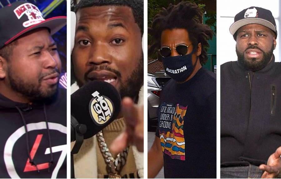 JAY-Z & Meek Mill von Funk Flex & Akademiks wegen Verzeihung des Präsidenten von Roc Nation ins Visier genommen