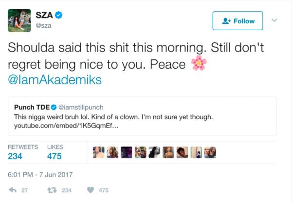TDE-Präsident Punch Disses DJ Akademiks für seine Kommentare zu SZA