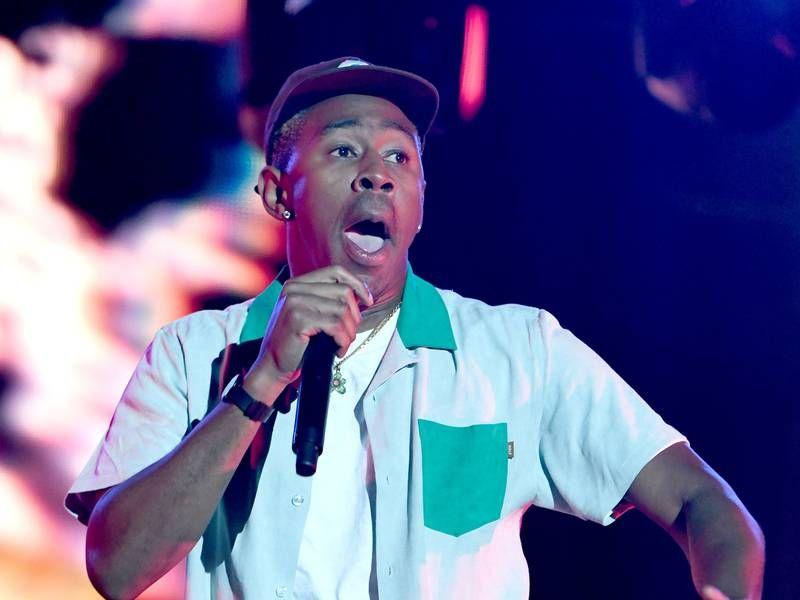 Tyler, der Schöpfer, gezwungen, die 1. Londoner Show abzubrechen, seit das Verbot in Großbritannien abgelaufen ist