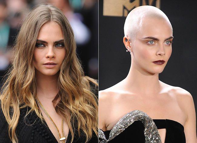 Kjente damer som har barbert av håret og sett bombe ut