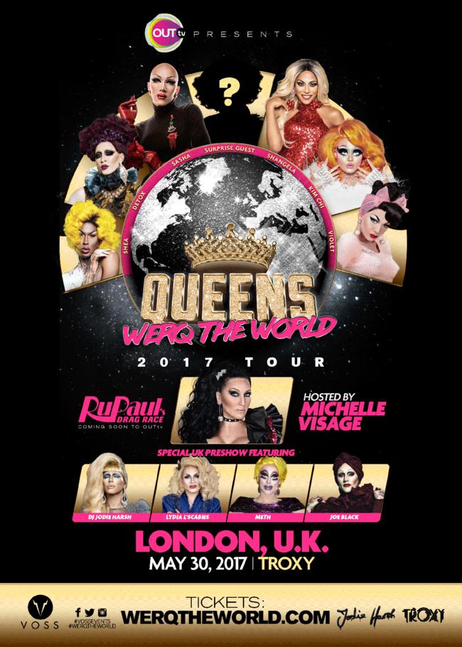 RuPaul's Drag Race Werq World 2017 Touren kommer til London