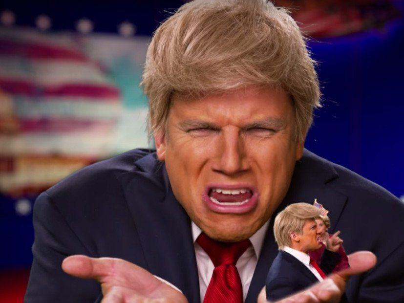 "(Fölsuð) Hillary Clinton & Donald Trump Square Off fyrir ""Epic Rap Battles of History"""